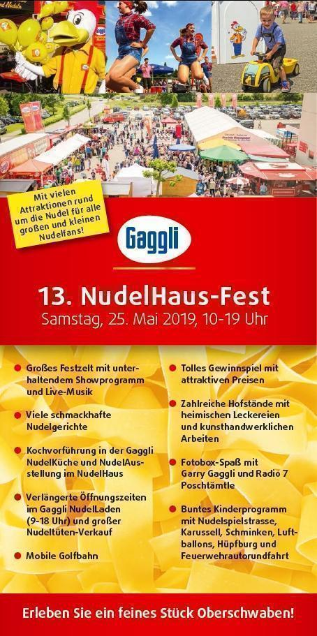 13. Gaggli NudelHaus-Fest am 25.05.2019